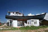 Tsunami - Banda Aceh, Indonesia: Boat on Roof