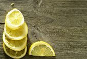 Sliced Lemon Background
