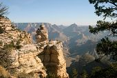 stock photo of grand canyon  - view of the grand canyon - JPG
