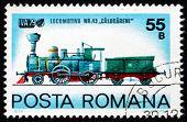 Briefmarke Rumänien 1979 Lokomotive nr.43 calugareni