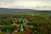 Fall Color Landscape In Rural America