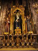 Saints Joaquima De Vedruna, Francis Of Assisi, Anthoy M Claret St Mary Pine Tree, Barcelona, Spain