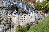 Castle of Predjama (Predjamski grad or Grad Predjama),  Slovenia.