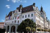 The main building of the University of Ljubljana, Slovenia