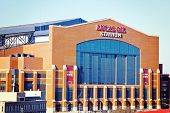 Lucas Oil Stadium in downtown of Indianapolis