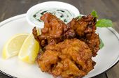 Onion Bhajis & Mint Raita