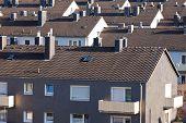 Urban high-density condo building blocks housing