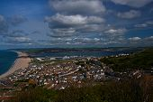View over Chesil beach,Portland