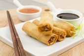 picture of thai cuisine  - Spring Rolls  - JPG