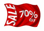 Sale 70% Off Flag