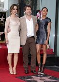 LOS ANGELES - NOV 07:  Berenice Marlohe, Javier Bardem & Naomi Harris arriving to Walk of Fame Honor