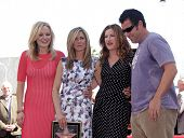 LOS ANGELES - FEB 22:  MALIN AKERMAN, JENNIFER ANISTON, KATHRYN HAHN & ADAM SANDLER arriving to Walk