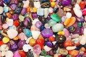 Colorful semiprecious gems
