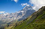 Famous mount Eiger in the Jungfrau region