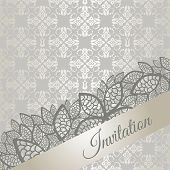 Silver special occasion (engagement, wedding, birthday party) invitation card