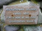 Katsbaan, NY - May 18: Revolutionary Soldiers' Tribute Plaque
