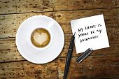 Heart Coffee, With Pen And Notes