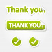 Set of ThankYou Bent Stickers and Labels