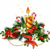 Christmas Candle Light With Decorations
