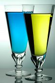 Yellow And Blue Drink