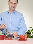 Man Making Herbal Tea