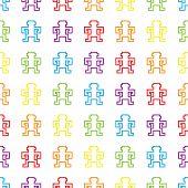 seamless retro rainbow pixel monkeys vector
