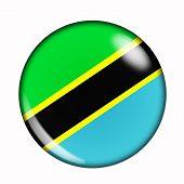 Button Flag Of Tanzania