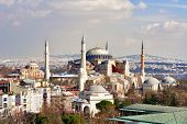 picture of constantinople  - Hagia Sophia in Winter in Istanbul - JPG