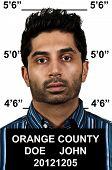 pic of lockups  - Mugshot of a handsome young man criminal - JPG