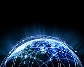 foto of debate  - Blue vivid image of globe - JPG