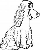 Cocker Spaniel Cartoon For Coloring Book