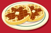 Waffles on plate