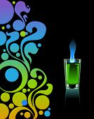 stock photo of absinthe  - Glass of absinthe on a black background - JPG