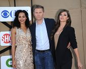 LOS ANGELES - AUG 04:  Madeleine Mantock, Mark Pellegrino & Peyton List arrives to CBS Showtime CW All Star Winter TCA Party 2013  on July 29, 2013 in Beverly Hills, CA