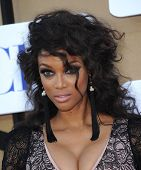 LOS ANGELES - AUG 04:  Tyra Banks arrives to CBS Showtime CW All Star Winter TCA Party 2013  on July