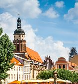 central square in the city of Cottbus. Germany