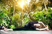 Yoga In The Tropic Garden