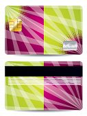 Color Credit Card With Abstract Design