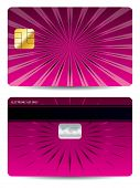Pink Ray Credit Card Design