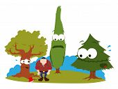 Funny Trees And Logger