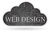 web design tagcloud concept