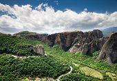 Monastery on top of rock in Meteora, Greece