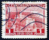 Postage Stamp Czechoslovakia 1928 Hluboka Castle