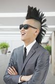 stock photo of half-shaved hairstyle  - Well - JPG