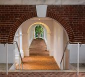 Underground Walkway Under Rotunda At Uva