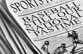 Beisebol nosso passatempo nacional