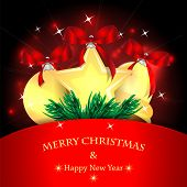Christmas Background.golden Christmas Tree Decorations