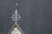 Tile Roof Typical Of The Finnish Church