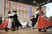 ZAGREB,CROATIA - JULY 19: Members of folk groups Schwabischer Albverein in German national costume during the 47th International Folklore Festival in center of Zagreb,Croatia on July 19,2013