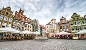 POZNAN, POLAND - AUGUST 21: The central square on August 21, 2013 in Poznan, Poland. Currently, Old
